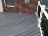 GRAY DECKING WITH BLACK SPINDLES