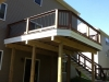 SADDLE RAILING WITH WHITE DOUBLE FASCIA