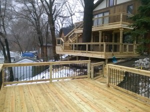 new wood deck