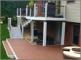 composite gallery, decktacular, woodcraft decks