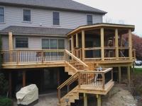 Cedar deck and 3 season room