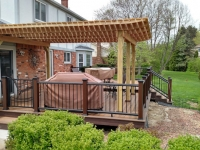 CUSTOM PERGOLA WITH DECK BOARD TOP