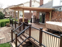 NOVI TREX DECK AND WOOD PERGOLA
