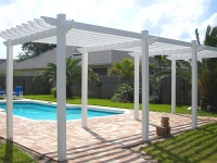 CUSTOM PERGOLA PAINTED WHITE