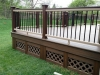 TREX TRANSCEND RAILING WITH COMPOSITE LATTICE SKIRTING