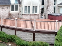 PANORAMIC SHOT OF ENTIRE DECK