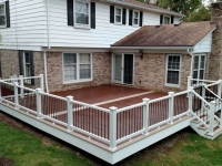 TREX TRANSCEND WHITE RAIL AND FASCIA