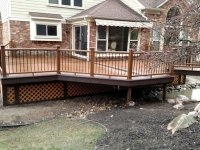 FRONT VIEW OF DECK