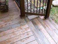 Fiberon walnut decking, picture frame steps