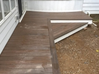 FIBERON DECKING WITH WHITE FASCIA