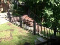 Trex Reveal railing, Black Transcends sleeves