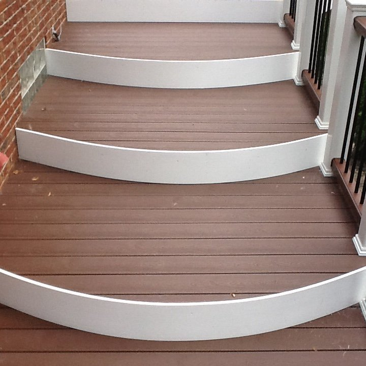 CURVED FASCIA ON STEPS