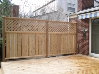 CEDAR FENCE AND TRIM FOR PRIVACY