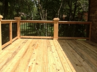 PRESSURE TREATED DECK WITH KINGPOSTS