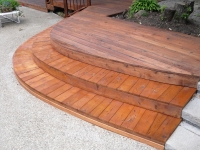 curved step rot repair