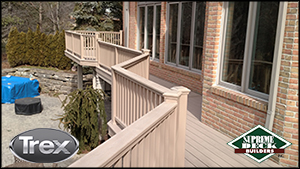 Trex Transcend deck in Rochester Hills, Troy, Michigan